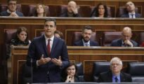 El presidente del Gobierno, Pedro Sánchez, hoy en el Congreso