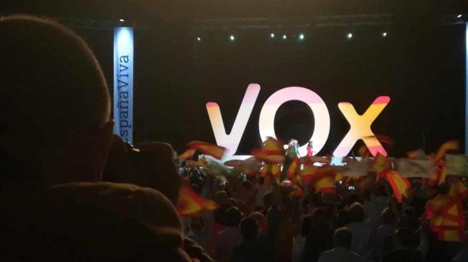 Mítin de Vox en Vistalegre.