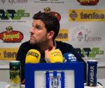 Gerard Albadalejo, entrenador del Lérida, en rueda de prensa
