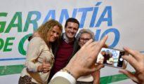 Pablo Casado, en un acto electoral del PP en Roquetas de Mar