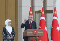 El presidente de Turquía, Recep Tayyip Erdogan, durante su discurso inaugural del pasado 9 de julio en Ankara.
