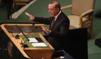 En la imagen, el presidente de Turquía, Recep Tayyip Erdogan, dirigiéndose a la Asamblea General de la ONU.