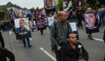 Manifestación silenciosa organizada por Alternativa por Alemania (AfD) en memoria de las víctimas de los crímenes violentos perpetrados por migrantes. Chemnitz, Alemania, 1 de septiembre de 2018.