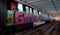 Grafiti en el Metro de Barcelona