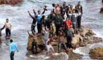 Inmigrantes a su llegada a las costas andaluzas.