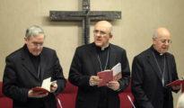 En el centro, el cardenal arzobispo de Madrid, Carlos Osoro.