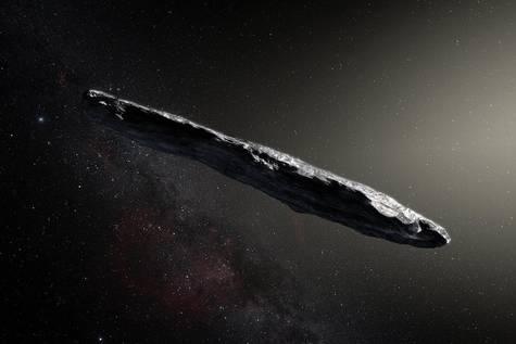 Recreación del Oumuamua