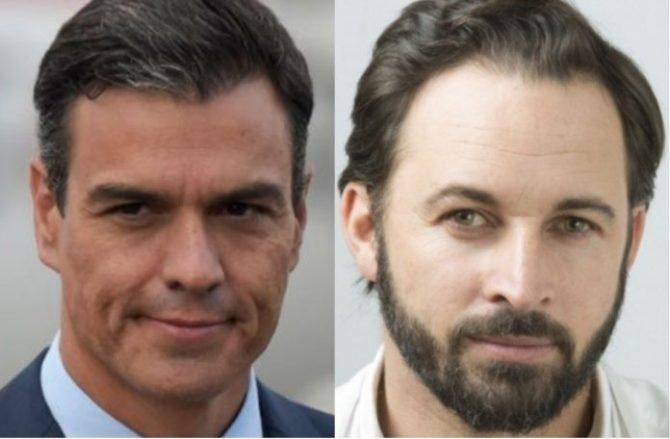 Pedro Sánchez y Santiago Abascal, las dos caras de una misma moneda.