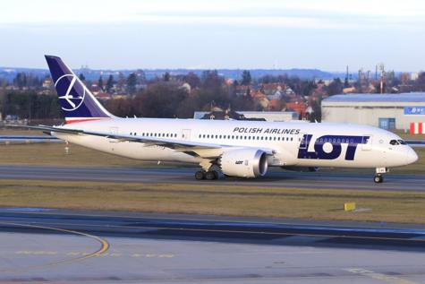 Un avión de la compañía LOT