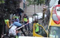 Imágenes del triple crimen cometido en el barrio de Usera de Madrid en 2016.