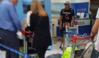 Maximiliano Mazzaro, en el Aeropuerto de Ezeiza, rumbo a Madrid - Diario Olé