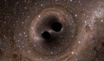 Imagen de la Universidad Nacional Australiana que ha detectado la mayor colisión de agujeros negros jamás observada.