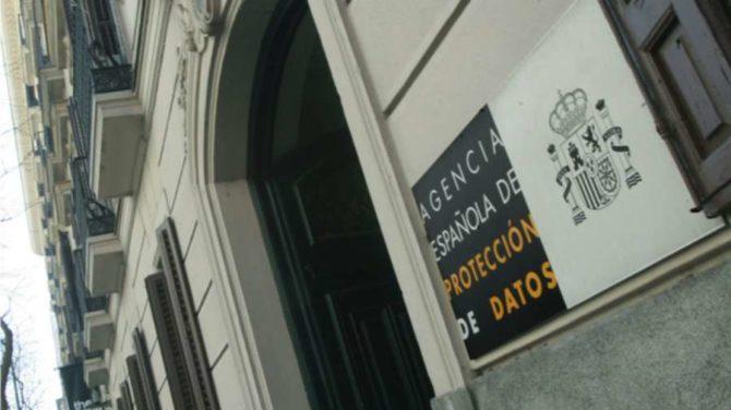 Fachada de la sede de la Agencia Española de Protección de Datos en Madrid.