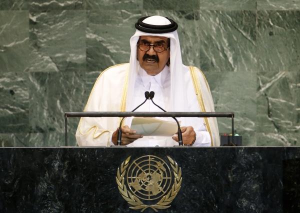 El emir de Qatar, Hamad bin Jalifa al Thani