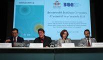 Acto de presentación del anuario «El español en el mundo 2018», que analiza en 366 páginas la evolución del español como lengua de comunicación internacional y su proyección de futuro