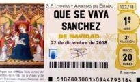El falso décimo que círcula por Twitter pidiendo la explusión de Pedro Sánchez del Gobierno - TWITTER