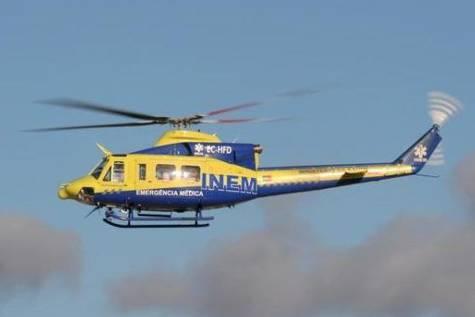 Imagen de archivo de un helicóptero del INEM portugués.