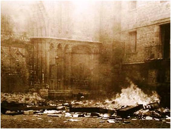 Iglesias de Barcelona en llamas (1936)