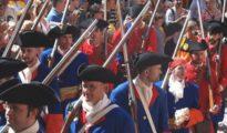 Recreación histórica de los soldados del «Regimiento de infantería de la Diputación del General de Cataluña»