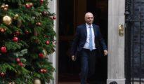 El ministro de Interior británico, Sajid Javid, sonríe a su salida del Consejo de Ministros británico en el nº 10 de Downing Street, en Londres