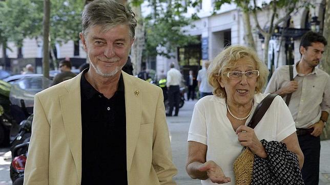 Pedro Santisteve, con su homóloga madrileña, Manuela Carmena