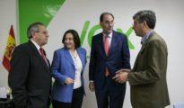 Vidal-Quadras (segundo por la derecha), en 2014 en Zaragoza, durante la campaña de las europeas