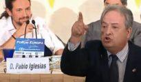Casillas acusando a Pablo Iglesias de complicidad con la represión que vive Venezuela..