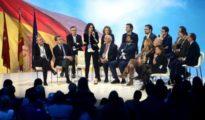 Los candidatos a presidir las comunidades autónomas, ayer en la Convención del PP