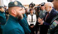 El director de la Guardia Civil, Félix Azón, se reunió ayer con los guardias civiles que participaron en el rescate de Julen