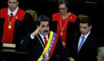 Maduro durante su discurso en el Tribunal Supremo