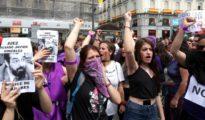 Feministas protestando contra la sentencia de la Manada