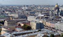 Vista aérea de la ciudad de San Petersburgo