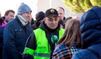 El portavoz de Elite Taxi, Alberto 'Tito' Álvarez, el pasado día 25 en Ifema