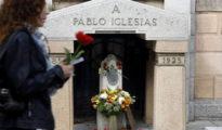 Foto de archivo de la tumba de Pablo Iglesias, fundador del PSOE