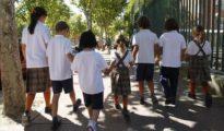 Alumnos de un colegio concertado en Vallecas (Madrid)