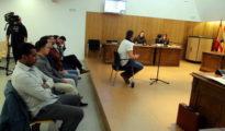Juicio celebrado contra los militares en la Audiencia de Huesca (Heraldo)
