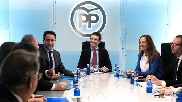 Pablo Casado ha presidido este lunes el Comité de Dirección del PP en la sede nacional