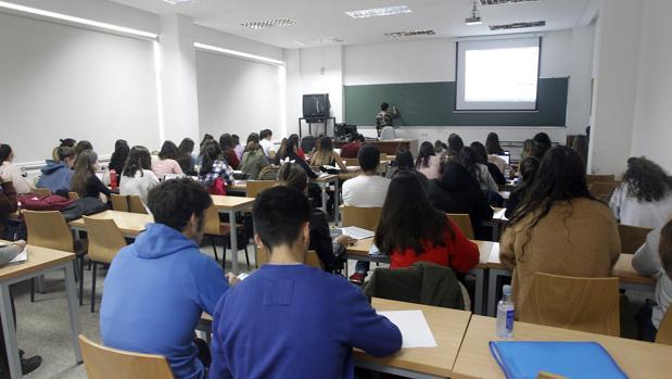 Imagen de archivo de una clase universitaria