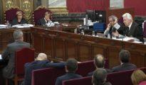 Imagen tomada de la señal institucional del Tribunal Supremo de la declaración del exconsejero de Interior del Govern catalán (LV)