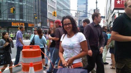 María Gabriela Chávez, de compras en Nueva York.