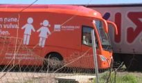 Autobús de 'Hazte Oír' con la campaña que llevaron a cabo en 2017.