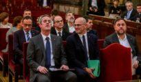 """Los doce líderes independentistas del """"procés"""" en el banquillo del TS"""