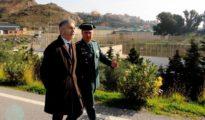 Fernando Grande-Marlaska durante la visita al puesto fronterizo de El Tarajal y el perímetro fronterizo de Ceuta