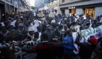 Manifestación de 'manteros' por las calles de Madrid (El Mundo)