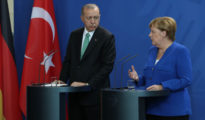 En la imagen, Merkel y el presidente de Turquía, Recep Tayyip Erdogan, en Berlín el pasado 28 de septiembre.