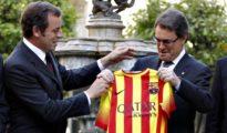 Sandro Rosell (i) y Artur Mas
