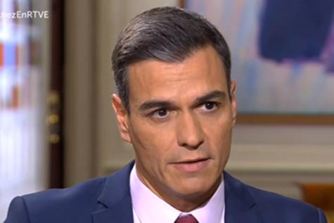 El presidente del Gobierno, Pedro Sánchez, durante la entrevista/RTVE