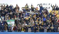 Seguidores del Cádiz, en el partido contra el Alcorcón en Madrid - @Cadiz_CF