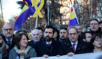El suceso tuvo lugar a la llegada de Torra a la concentración frente al Tribunal Supremo.