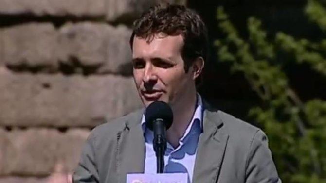 Pablo Casado, durante un acto celebrado e Mérida
